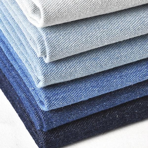 Yaz Pamuk Yıkanmış Denim Kumaş Jean Pantolon Gömlek Giyim Önlük Diy Kumaş