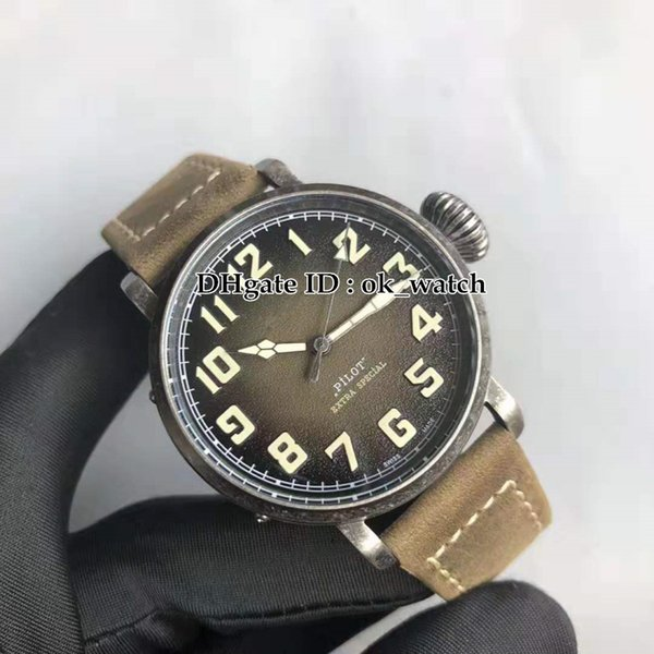 Top quality Steel case 11.1943.679/63.C800 Miyota 8215 Automatic Mens Watch Big crown Leather strap 40mm Gents best sport watches