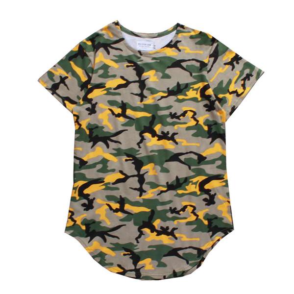 2019s New design high street hommes t-shirts d'été manches courtes coton camouflage imprimé chemises lâches hommes vêtements streetwear tshirt