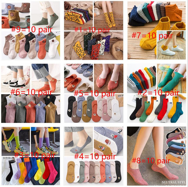 top popular Casual Socks Cartoon Women High Quality Cotton Animal Sock Spring Autumn Winter Warm Socks for Lady Girls Art Socks Calcetines Mujer 2021