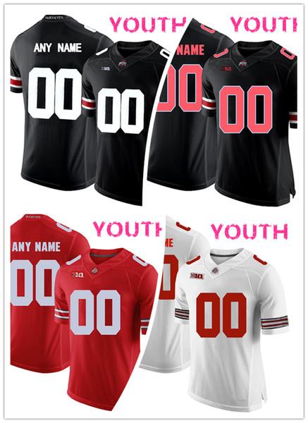 Camiseta NCAA Ohio State Buckeyes OSU 63 Camiseta Michael Bennett 11 Vonn Bell 80 Noah Brown HOMBRE MUJER JOVEN negro rojo Blanco camiseta de fútbol