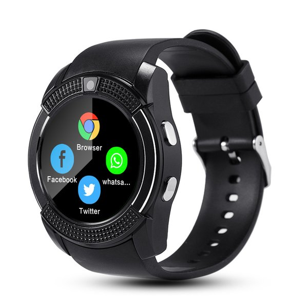 Smart Watch V8 Men Bluetooth Sport Watches Women Ladies Rel gio Smartwatch with Camera Sim Card Slot Android smart electronics VS Dz09 Gt08