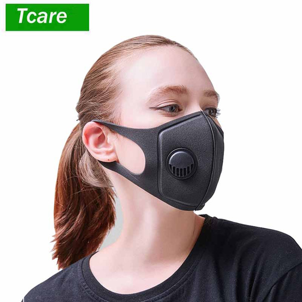 Black Mask with Valve