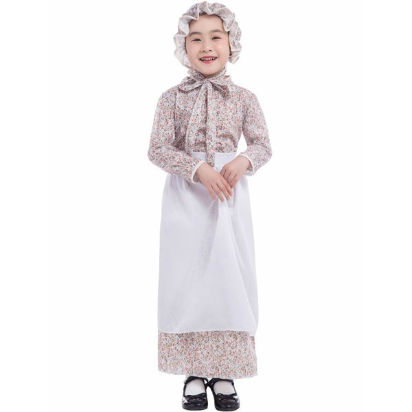Halloween costumes children's day kindergarten children perform Wolf grandmother stage costumes