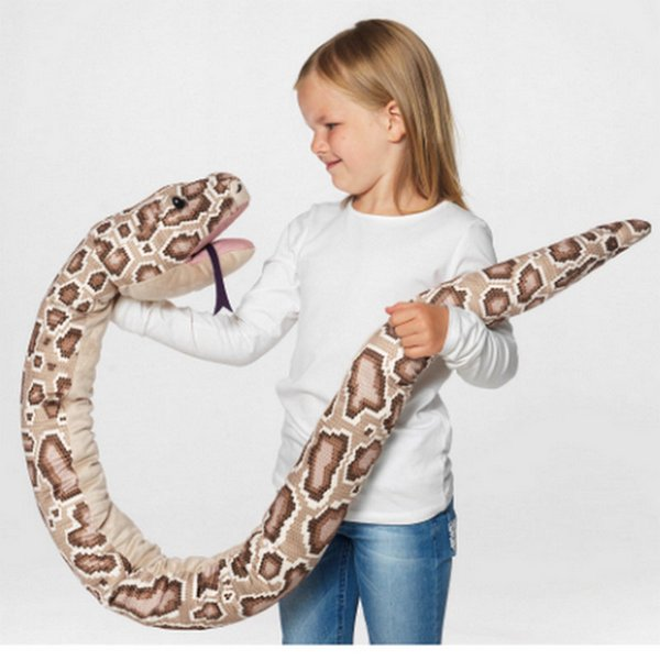 1pc 155cm Real life Plush Toys Stuffed Giant Snake Animal Toy Soft Dolls Bithday Christmas party Gifts baby Funny Hand Puppet