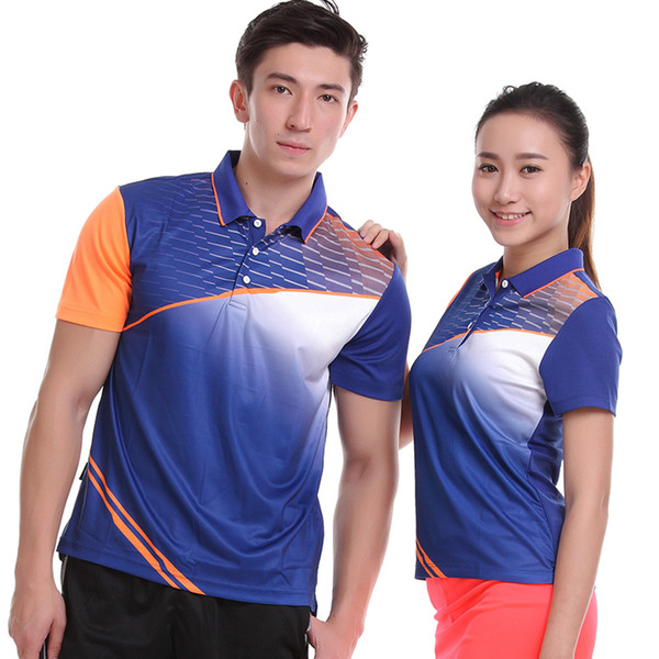 Yeni Spor Koşu Gömlek Hızlı Kuru Nefes Badminton Gömlek Kadın Erkek Masa Tenisi Takımı Spor Golf Polo T-Shirt