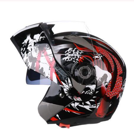 Genuine JIEKAI 105 Motorcycle Full Face capacetes Dual Lens Visor Homens Scooter Motocross Motorbike Cruiser Touring Chopper Helmet