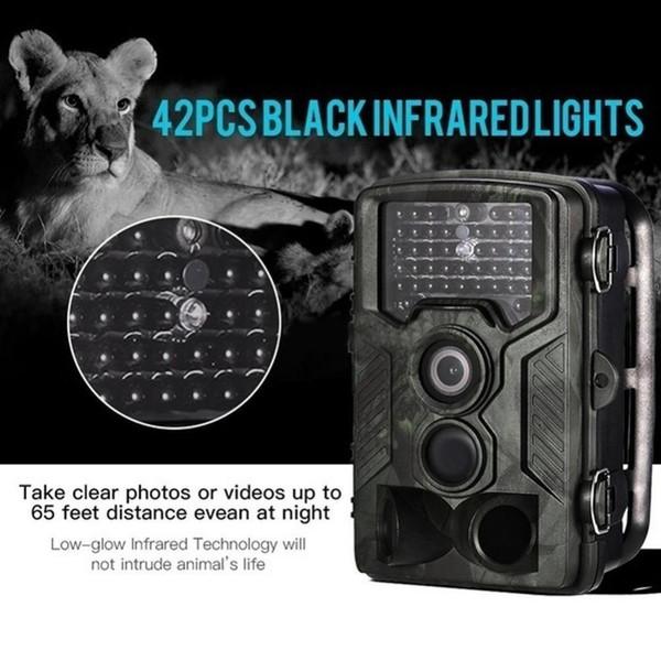 Nova 3PIR visão noturna à prova d 'água câmera Hot feeling HC-800A Trap 1080 P Infravermelho Detecção de Movimento Caça Trail Camera chasse Fot