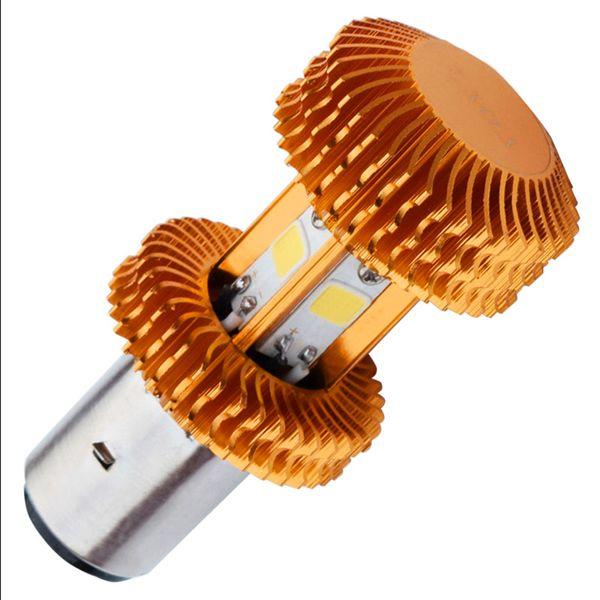 H6 LED Motorcycle Headlight Bulb 2500LM Super Bright 4X COB LED BA20D Hi/Lo Lamp 9V - 80V Scooter ATV Light