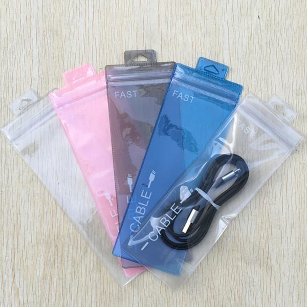 7x19.5 7 * 19,5 cm Sacchetti in PVC con cerniera Pudding colorato traslucido Sacchetto con cerniera colorato Sacchetti in plastica OPP Imballaggio per telefono