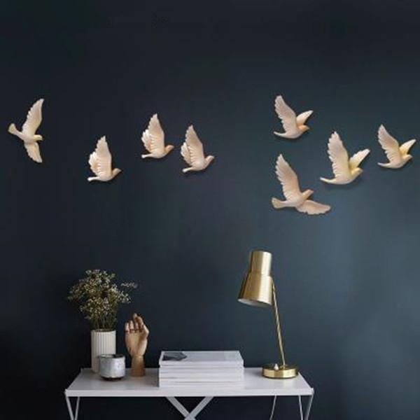 Decoraciones para el hogar, adhesivos de pared para manualidades, hermosas aves golondrinas, decoración de pared de restaurante de oficina en el hogar