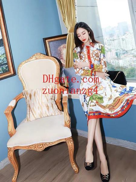 2019 robes d'été de vente chaude contraste robe maxi revers avec fermeture à glissière latérale vêtements pour dames robes décontractées femmes vêtements PM-18