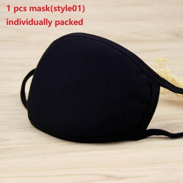 1pc maschera nera (style01)
