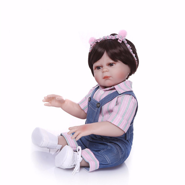 Bebe Reborn 19 Inch full body soft silicone bebe Reborn Baby Doll Touch Real fashion children's day gifts toys Baby Doll New Designed