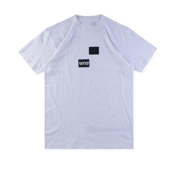 18FW Kutusu Logosu X des Tee Sokak Kaykay Erkekler Tee Moda Kısa Kollu Rahat Açık LOGO Baskılı T-Shirt HFLSTX314HFLSTX315