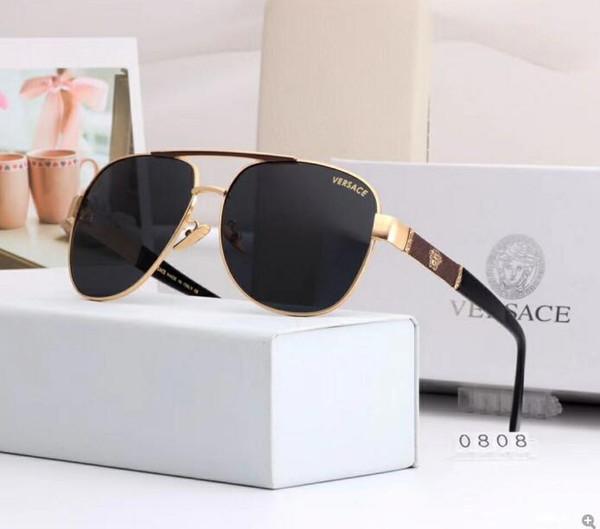 2019 Summer Luxury sunglasses designer sunglasses for men high quality glass polarized for mens oval metal frame 3602 NO box