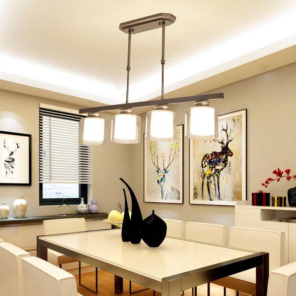 Vintage Nordic Designer Led Black White Glass Hanging Ceiling Chandelier lamp Lighting Lusters Lamp for Living Room Kitchen Loft Bedroom