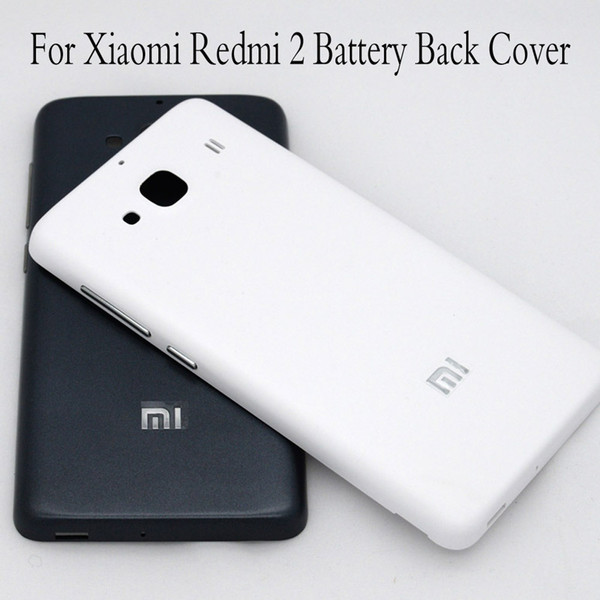 For Redmi 2 Matte Frosted Battery Back Cover Door for Xiaomi Redmi 2 battery cover for Xiaomi Redmi2 hongmi 2