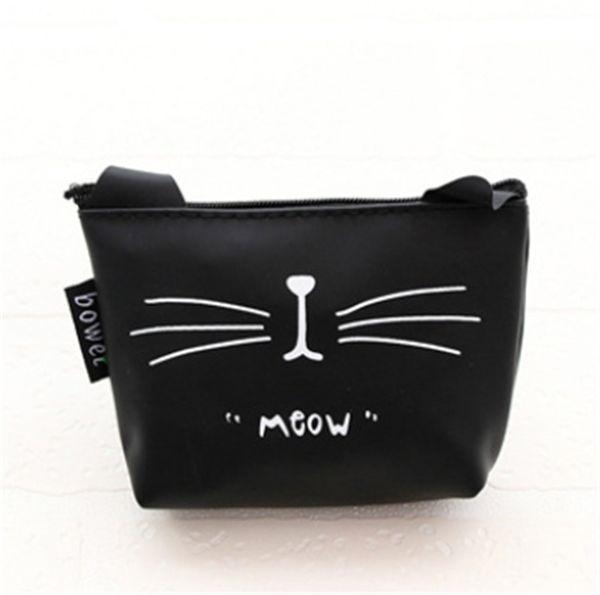 2018 Organizador de cosméticos Bolsa Pure Cute Cat Prints Bolsa de cosméticos Moda para mujeres Maquillaje y estuches de viaje Artículos de tocador # 42840