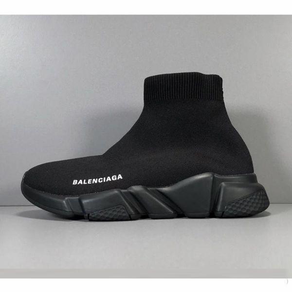 Balenciaga 2019 Designer Socks chaussures mode hommes femmes baskets entraîneur de vitesse noir blanc bleu rose glitter mens formateurs occasionnels chaussure Runner lourde semelle