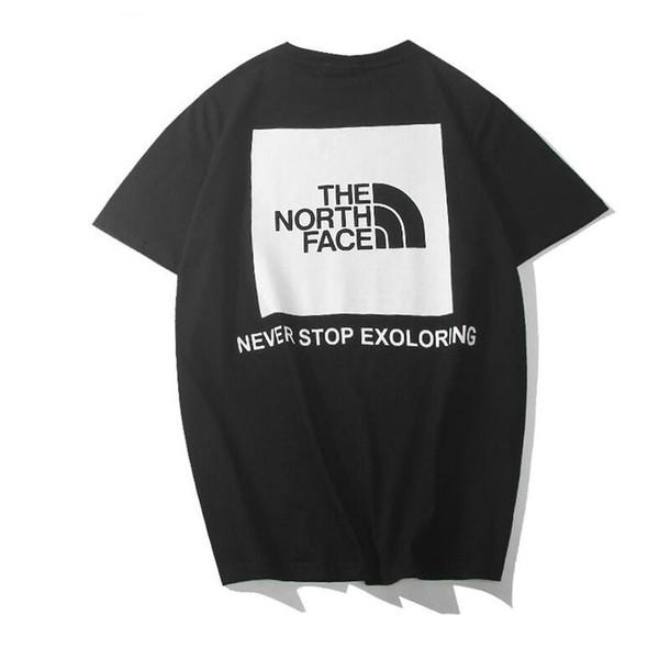 O Algodão do Norte S-2XL T Camisas Para Homens Verão O Pescoço Mens Designer T Camisas Moda Maré Sobre O Tamanho Dos Homens Hip Hop Camisetas