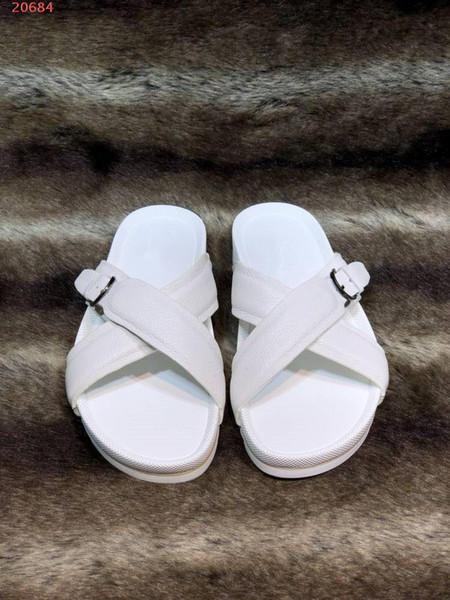 мода роскошный дизайнер высочайшее качество досуг мужская обувь импортные ткани оригинальная комбинация подошва простой досуг мужские тапочки пляжная обувь