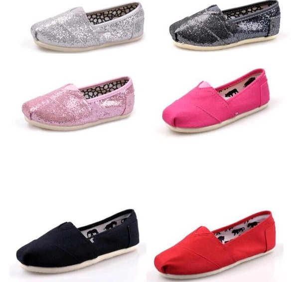 Low price Hot sale Brand Fashion flat shoes Sneakers for boys girls kids Breathable Casual Canvas Shoes children glitter shoes Low price Siz