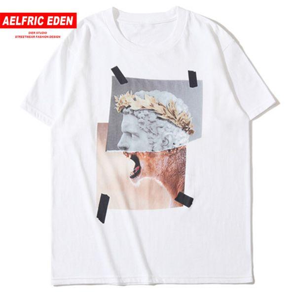Aelfric Eden Harajuku Funny Leopard Print Men 2019 Summer Hip Hop Casual Short Sleeve Tees Male Fashion Street T Shirts C19041702