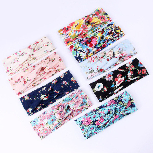 With crossed Europe and the printing of knitted polyester - cotton elastic headband lady cat hair ACC sports multi - color optional