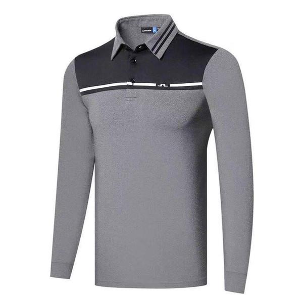 best selling New Men clothes Sports Golf Shirt Latest Spring summer JL Golf sports shirt Full Sleeves Anti-Pilling Sports Golf T-Shirt Free shipping