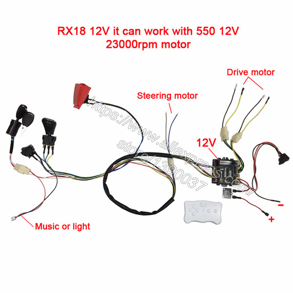 Children Electric Car Diy Modified Wires And Switch Kit,with 2.4g Bluetooth Remote Control Self-made Baby Electric Car 12v J190719