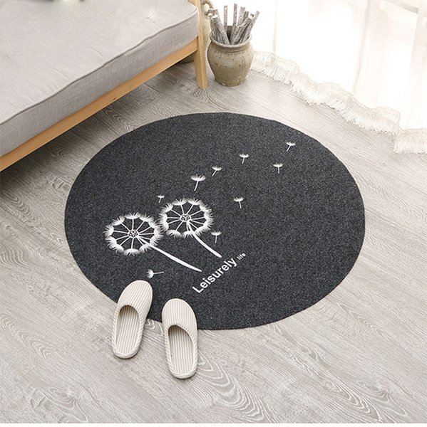 80cm Welcome Waterproof Door Mat Cartoon Embroidery Round Kitchen Rugs  Bedroom Carpets Decorative Stair Mats Home Decor Crafts Tuftex Carpet Shaw  ...