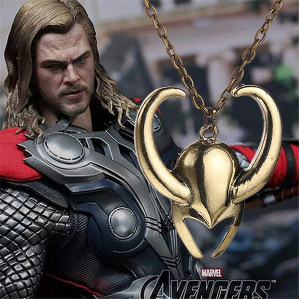 Colliers à longue chaîne populaire Anime Mens Bijoux Marvel Collier The Avengers Raytheon masque