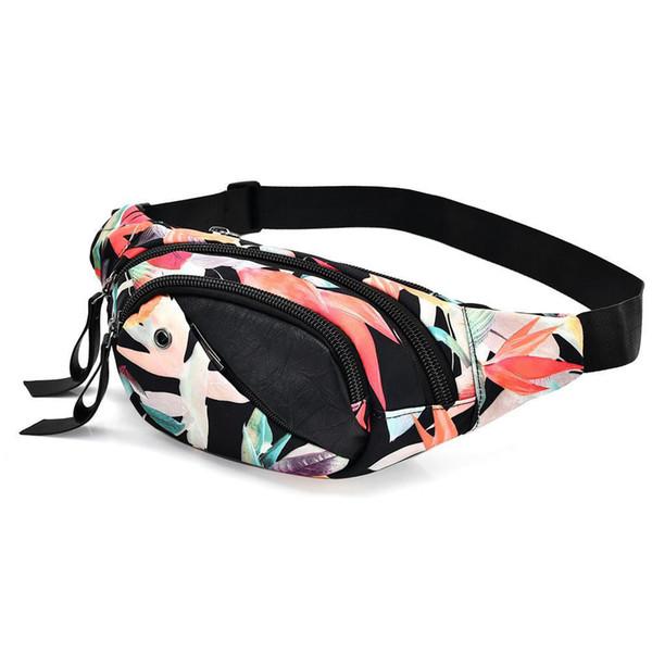 Sacchetto della vita del sacchetto della vita delle donne Pacchetto decorativo del modello del fiore Sacchetto del busto Pacchetto del petto Signore Hangbags della chiusura lampo di alta qualità