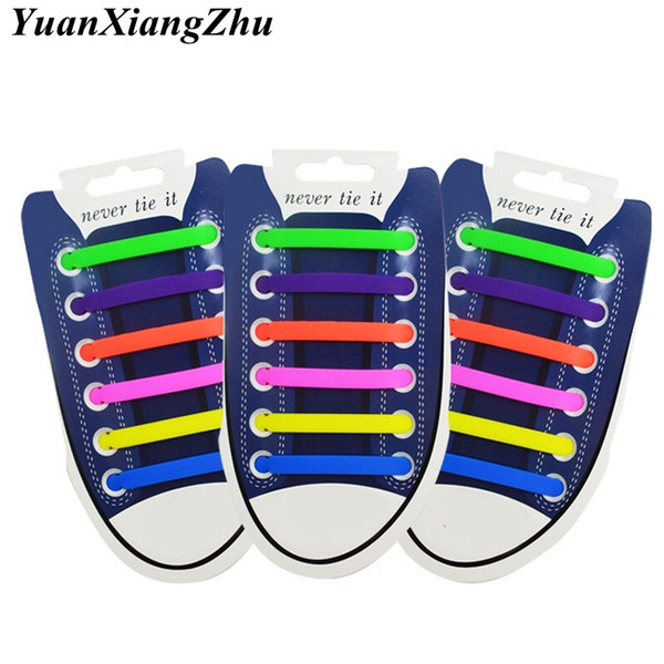 12pcs/lot Elastic Silicone Shoelaces For Shoes Special Shoelace No Tie Shoe Laces For Men Women Lacing Shoes Rubber Shoelace L2