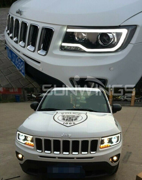 2019 Hid Headlights For 2011 2013 Jeep Grand Cherokee Front Bumper Led Bi Xenon Lamps Jc001 From Supercoolled 552 77 Dhgate Com
