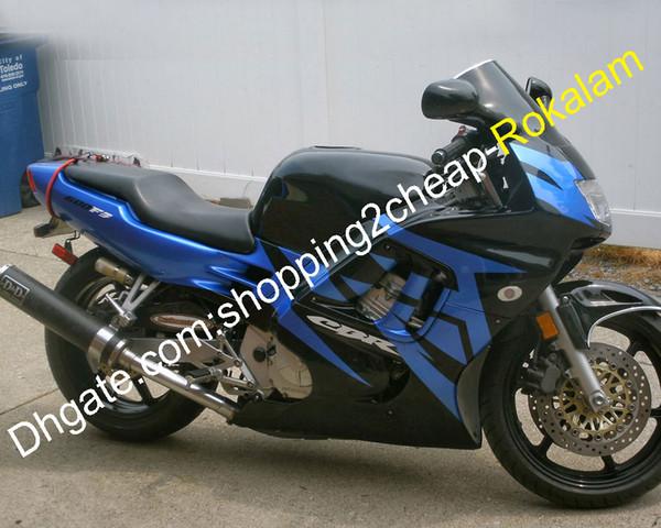 Para Honda Motorbike Cowlings CBR600F3 CBR600 F3 CBR600-F 1995 1996 CBR 600 95 96 600F3 Carenado de motocicleta azul negro (moldeo por inyección)
