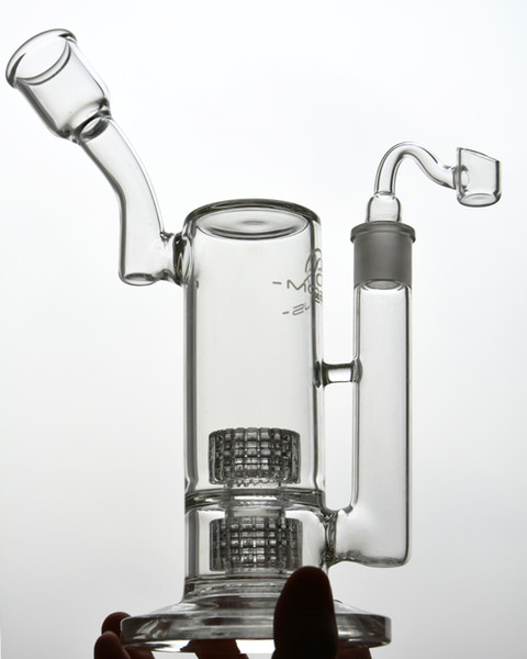 Mobius Thick Glass Bongs Water Pipes Beaker Water Bong Heady Glass Oil Dab Rigs With Stereo Matrix perc 18 mm joints Hookahs 11''