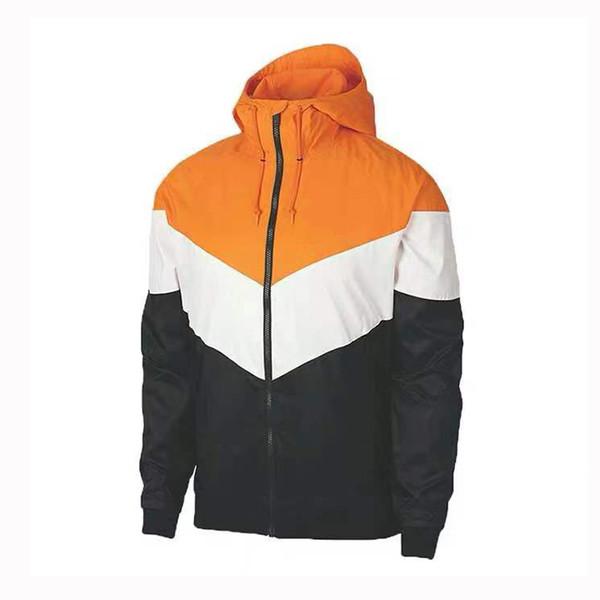 2019 al por mayor para los hombres del diseñador rompevientos corrientes de los deportes chaquetas de marca Casual cremallera sudaderas remiendo de la impresión del remiendo S-2XL CE98232