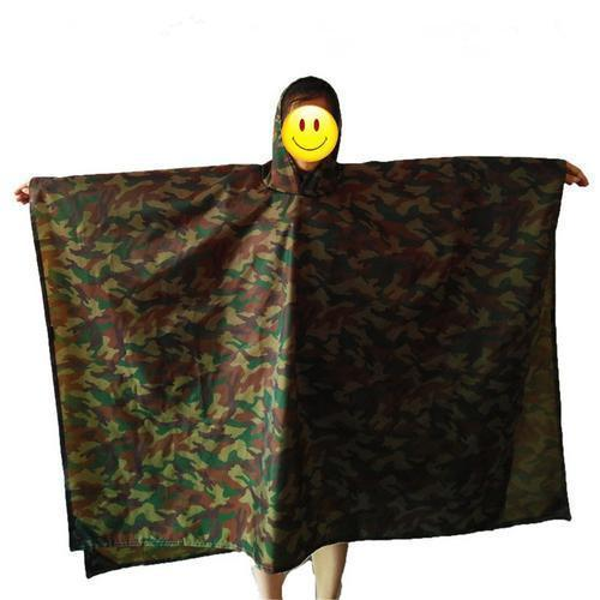 Multifunctional Rain Coat Protable Hiking Camping Raincoat Poncho Jacket Pockets Mat Awning Outdoors Rain Gear Supplies 3 In 1 Y190313