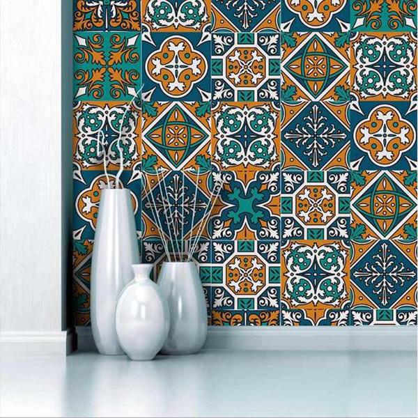 Decorazioni fai-da-te Adesivo murale creativo PVC Adesivo per piastrelle autoadesivo impermeabile Adesivi per cucina da bagno