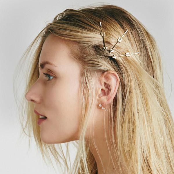 eManco Coração Atacado em forma de seta 4 Pieces Um jogo da jóia do cabelo Barrettes antiga da cor do ouro liga de zinco New Arrivals eManco Atacado