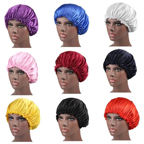 Unisex Bayan İpeksi Bonnet Beanie Hat Yumuşak Sıkı Band Turban Şapka Saç Kapak İpek Uyku