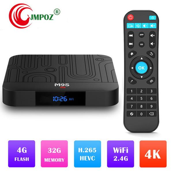 Más reciente M9S J1 Android 8.1 Tv Box Quad Core 4GB 32GB RK3328 2.4G Wifi H.265 USB 3.0 ott tv Reproductor multimedia Mejor S905W A5X Max H96 MAX S905X2