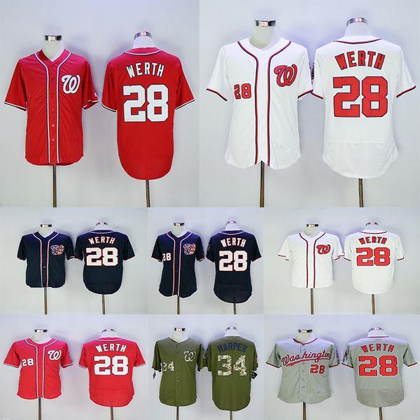on sale f3837 afca9 Men'S Washington Nationals 34 Bryce Harper Jersey 28 Jayson Werth White Red  Navy Grey Baseball Jerseys UK 2019 From Dajijersey, UK $$18.86 | DHgate UK