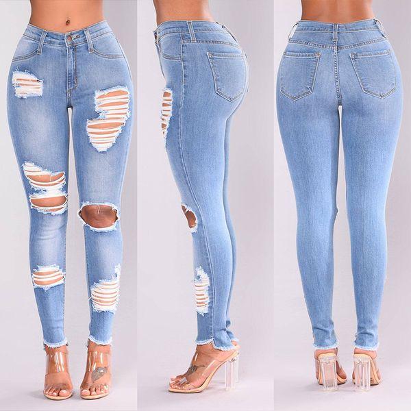 Acheter Nouveau Femmes Jeans Trou Déchiré