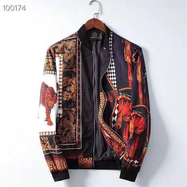 z19AutumnWinter новый модный дизайнер с длинным рукавом Medusa мужская куртка ветровка мужская повседневная куртка
