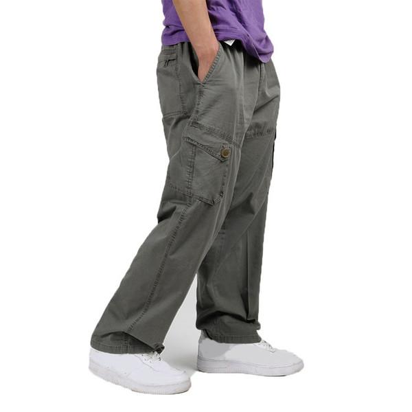 FAISIENS 4XL 5XL 6XL плюс размер Мужские брюки-карго мульти карман мужчины мешковатые брюки случайные свободные хаки черный армия зеленый мужчины брюки