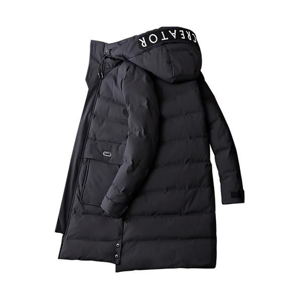 2018 Fahsion Koreli erkek Kış Ceket Erkekler Uzun Kalın Parkas Erkek Sıcak Palto Erkek Rahat Ceket Kapüşonlu 3XL 4XL Yüksek Kalite