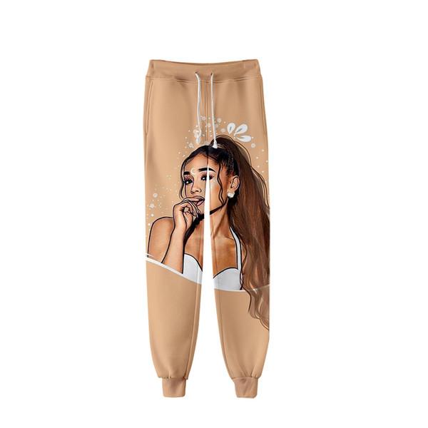 Nwe Sokak hip hop kadın spor pantolon sanatçı Ariana Grande 3D kanlı film baskı pantolon erkek rahat gevşek ayak xxs-4xl